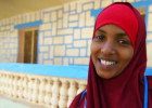 Midwife student Samda Mohamed Daa'uud. Photo: The Joint Health and Nutrition Programme