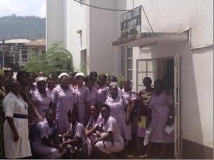 Midwifery students and their teachers in Freetown, Sierra Leone. Photo: UNFPA