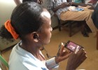 Photo, Ethiopian health worker with Safe Delivery App